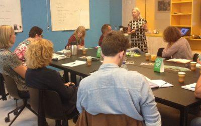 Loopbaancoaches volgen workshop NETWERKEN met wie en hoe ?