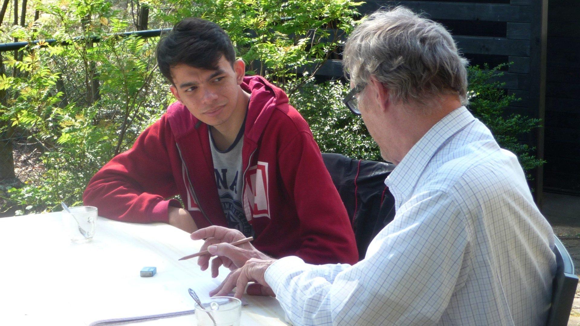 Amjad bij Taalcoach Nederlands van Kansennet